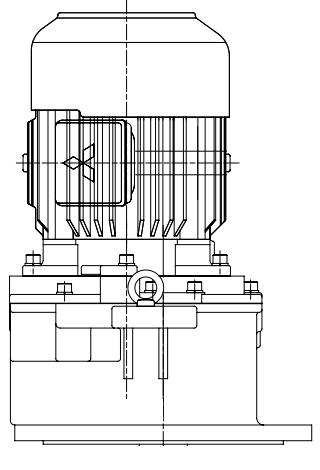 三菱ギヤードモータ GM-LJシリーズ 平行軸 三相200V 屋外仕様 GM-LJPV 11kW 1/10