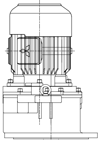 三菱ギヤードモータ GM-LJシリーズ 平行軸 三相200V 屋内仕様 GM-LJPVB 11kW 1/10